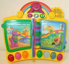 Mattel Lyons Barney Piano Musical Toy Nursery Rhymes Book Interactive 2001 - $49.95