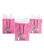 Fun Express Medium Perfectly Paris Gift Bags (1 Dz) - $8.91