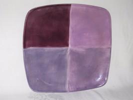 Quadrettini Painted Plum Square Serving Plate Platter Vtg Tabletops Unli... - $39.59
