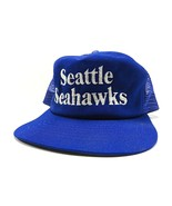 Vintage New Era Seattle Seahawks Blue Trucker Style Snap Back NFL Adjust... - $49.45