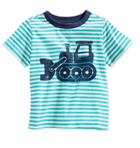 First Impressions Baby Boys' Bulldozer T-Shirt, Pagoda Blue, Size 6-9 M - $8.99