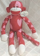 GANZ HV9194 In Stitches Red And Pink Heart Monkey 17 inch Ages 3 Plus image 1