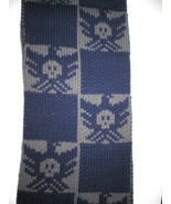 New 65 x 10 Australia Luxe Scarf Long Gray Blue Skull Dove Shearling Fur... - $60.00