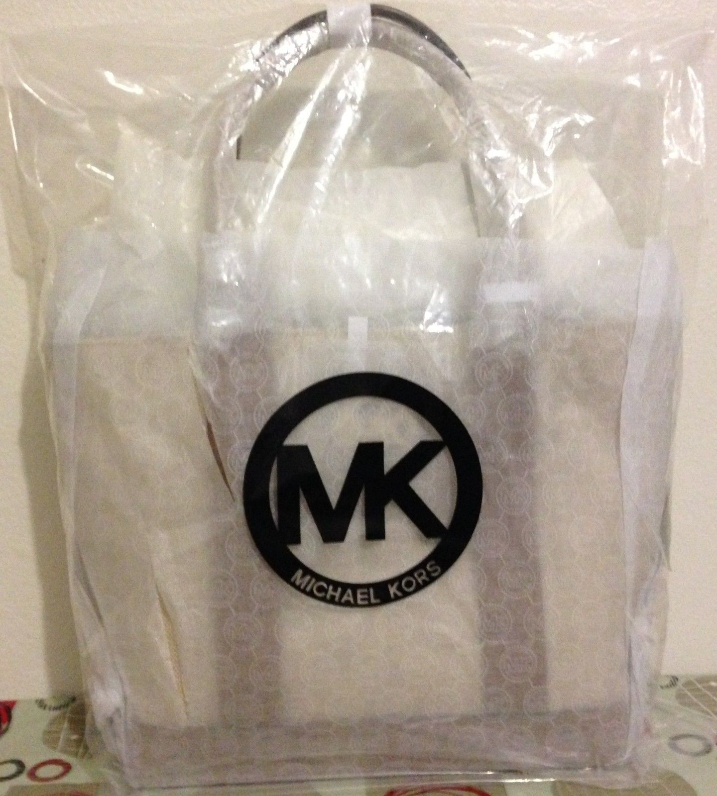 NWT Michael Kors Fulton Canvas Small Tote Ecru Luggage MSRP $178