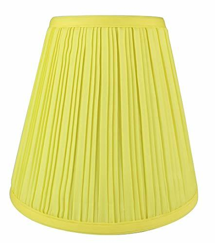 Urbanest Mushroom Pleated Hardback Lamp Shade 5x9x8.5 Inch, Spider-Fitter, Yello