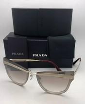 New Prada Sunglasses Catwalk Spr 12U KNG-4O0 Beige Marrone Chiaro Gold w/ Brown - $399.95
