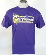 NFL Team Apparel Minnesota Vikings Purple Short Sleeve Tee T Shirt Men's NWT - $26.24