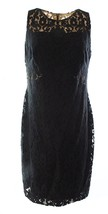 Lauren Ralph Lauren Womens Sz 10 Damask Lace Sheath Dress 2345-3 - $83.30