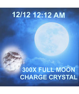 Haunted FREE W $75 300x 12/ 12 12:12 am FULL MOON FACETED CHARGE CRYSTAL MAGICK  - Freebie