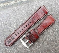 18mm/20mm Genuine Cowhide Leather Vintage Watch Straps Band - Red Brown ... - $24.75