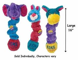 KONG Squiggles Dog Toys Colorful Plush Stretchy Squeakers Characters Var... - $22.86 CAD