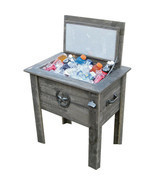 54 quart Barn Wood Board Beverage Cooler 50 Can Ice Chest w/ Drain Bottl... - £136.59 GBP