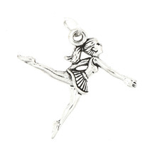 STERLING SILVER LEAPING BALLERINA CHARM - $9.49