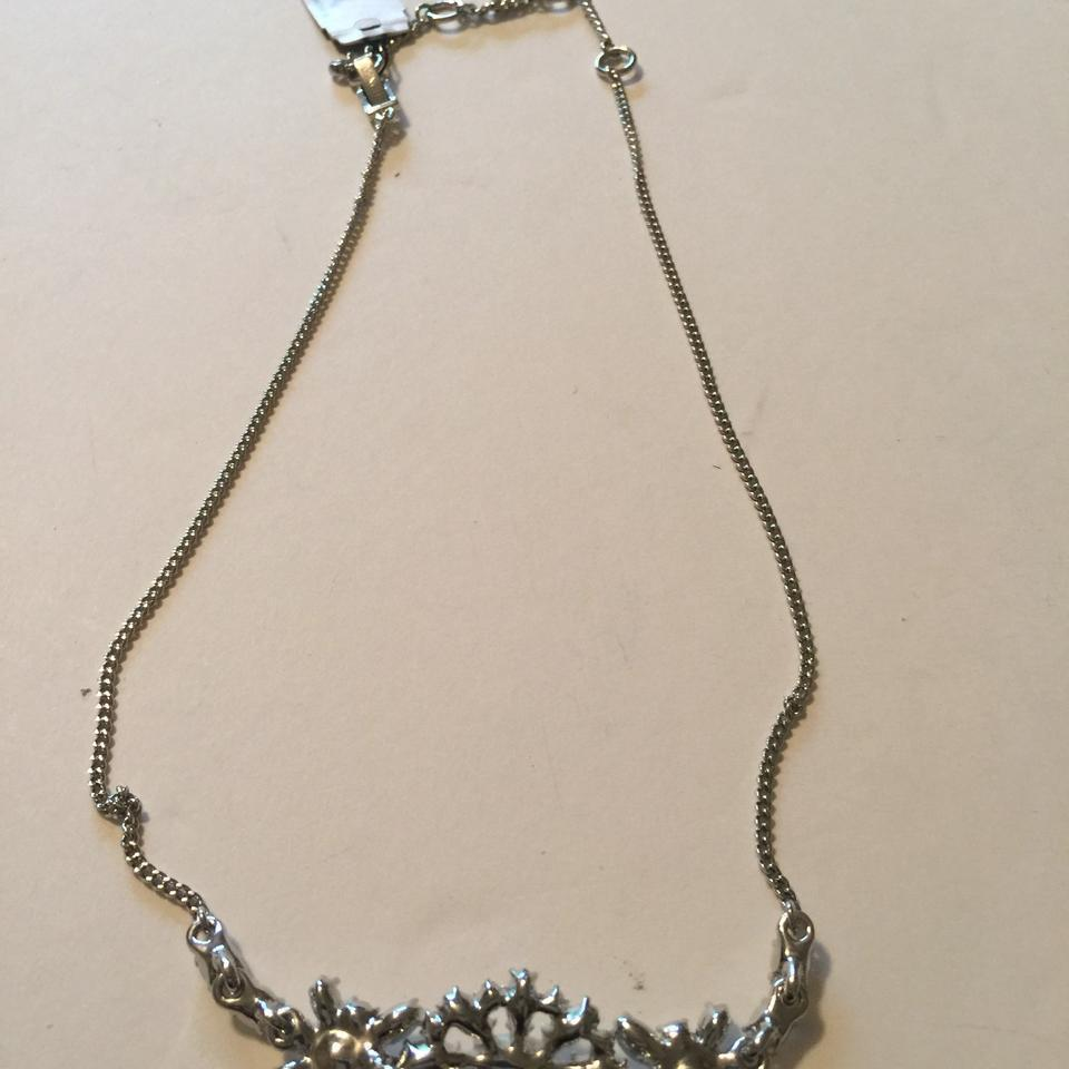 Givenchy Silver Tone Swarovski Element Crystals Necklace,NWT$78 image 5