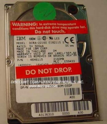 DCRA-22160 IBM 2.1GB IDE 2.5in 17MM Drive Tested Free USA Ship Our Drives Work
