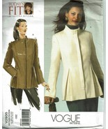 Vogue Sewing Pattern 2935 Misses Coat All Sizes Sandra Betzina - $19.79