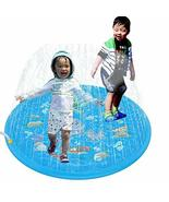 NACOCO Water Spray Mat Sprinkle Splash Play Pad Blue Inflatable Outdoor ... - $14.84