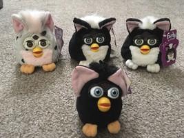 Lot Of 3 1999 NWT Furby Buddies & 1 NWT Talking Keychain - $29.99