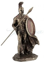 Leonidas Spartan King With Spear and Shield Statue - $56.99