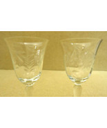 Pair of Etched Crystal Goblets - $15.52