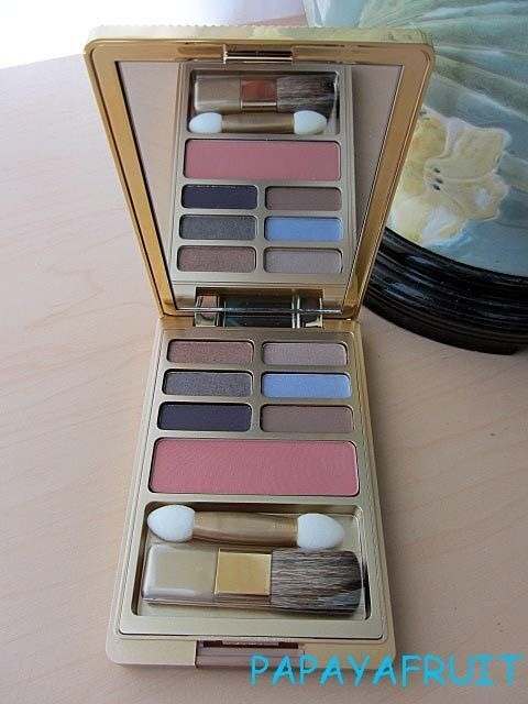 Primary image for Estee Lauder 6 EyeShadow & Blush Palette NUDE ROSE SEPIA SAND WINKING PERIWINKLE