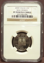 2008-S Proof New Mexico Washington Quarter NGC PF 70 UC #1050 - $35.99