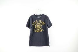 Vintage Ralph Lauren Mens Medium Spell Out Crest Faded Short Sleeve T-Sh... - $24.70