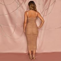 New Arrival Women Spaghetti Strap Bandage Dress Bodycon Night Club Party Dress image 3