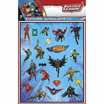 Justice League Sticker Sheets [4 per Pack]  - £3.79 GBP