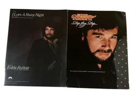 Eddie Rabbitt sheet music lot of two I love a Rainy Night & Step by Step - $18.69