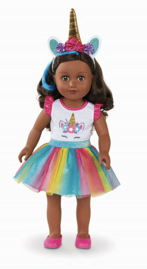 "My Life As Unicorn Trainer 18"" Poseable Doll NIB HTF Dark Skin & Hair - $54.44"