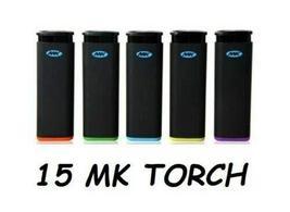 15 Full Size MK Jet Torch Lighters Windproof Refillable Butane Cigarette... - $12.85