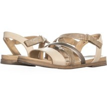 naturalizer Kandy Flat Strappy Sandals 174, Beige, 8.5 US / 38.5 EU - $15.35
