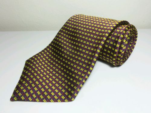 "XMI Platinum Men's Tie Gold/Burgundy woven design London - 58"" X 4 """
