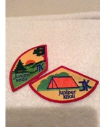 2 Juniper Knoll JK Girl Scouts GS Scouting Camping Embroidered Patch Bad... - $14.95