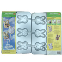 2 Wilton Easter Bunny Cookie Pan - Cookies On A Stick Both New & Sealed - $27.07