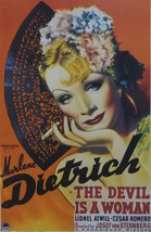 The Devil is a Woman (1) - Marlene Dietrich - Movie Poster Framed Picture - 11 x - $32.50
