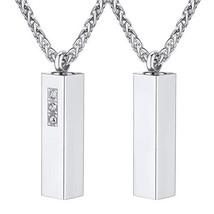 U7 Storage Bottles Necklace Memorial Jewelry Rhinstones Inlaid Stainless... - $13.83