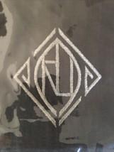 "Ralph Lauren Penthouse Gray 54'x72"" Charcoal Monogram Throw Blanket $330 Nip - $159.59"