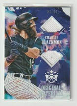 Charlie Blackmon 2018 Panini Dual Game Used Original Materials Serial #5... - $4.21