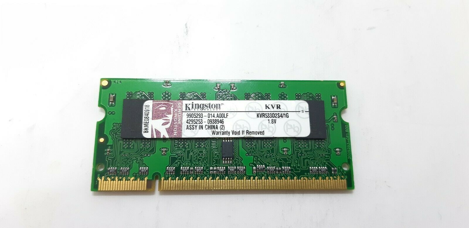 Primary image for Kingston ValueRAM 1GB SO-DIMM PC2-4200 533MHz DDR2 Memory (KVR533D2S4/1G)