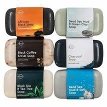 Eco-Friendly Set of 6 4oz Bars Natural Soap Healthy Exfoliating Skin Tro... - £28.59 GBP