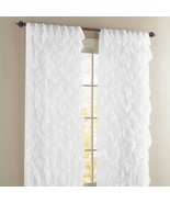 """Cascade Ruffled Curtain Panel, 50"""" wide by 84"""" long, White, Lorraine Home - $25.99"""