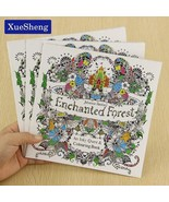 XUES® 24Pages/Lot Enchanted Forest English Edition Coloring Book For Chi... - $1.17