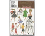 Simplicity 5785 fashion doll archives pattern thumb155 crop