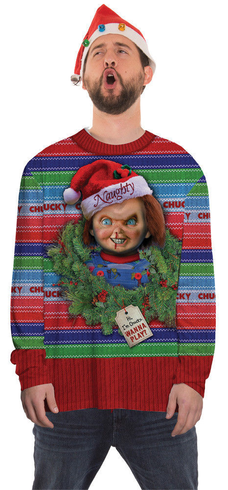 Primary image for Chucky Childs Play Halloween Ugly Christmas Sweater Costume Tee