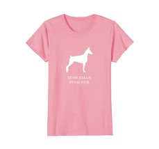 Doberman Pinscher Shirt - white silhouette - $19.99+
