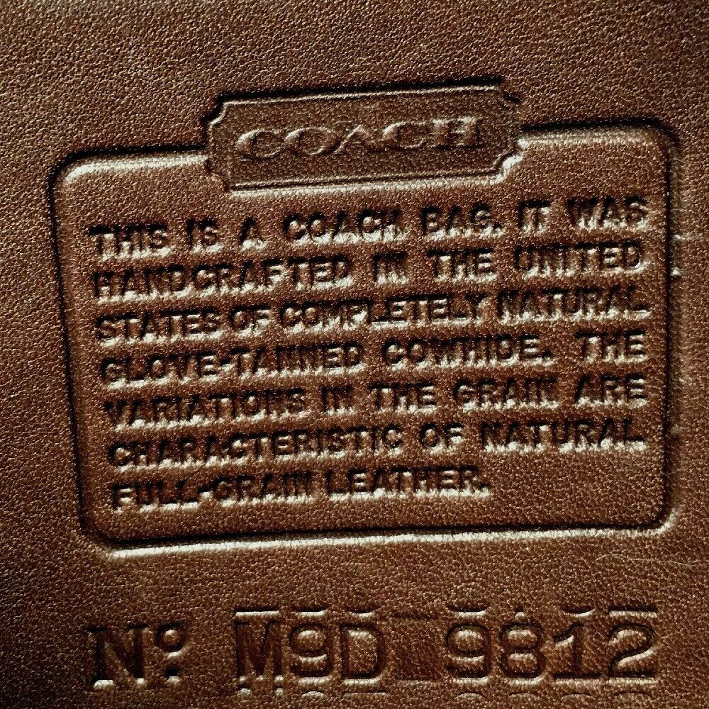 Coach Vintage Small Brown Leather Flap Shoulder Bag -Made in USA -Distressed