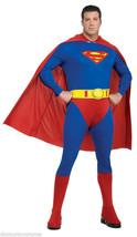 OFFICIALLY LICENSED SUPERMAN  ADULT HALLOWEEN COSTUME PLUS SIZE 46-52 JA... - $60.31
