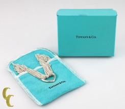 Tiffany & Co. Corazón Abierto de Plata Ley Multi Cadena Collar con / Caja & - $427.69